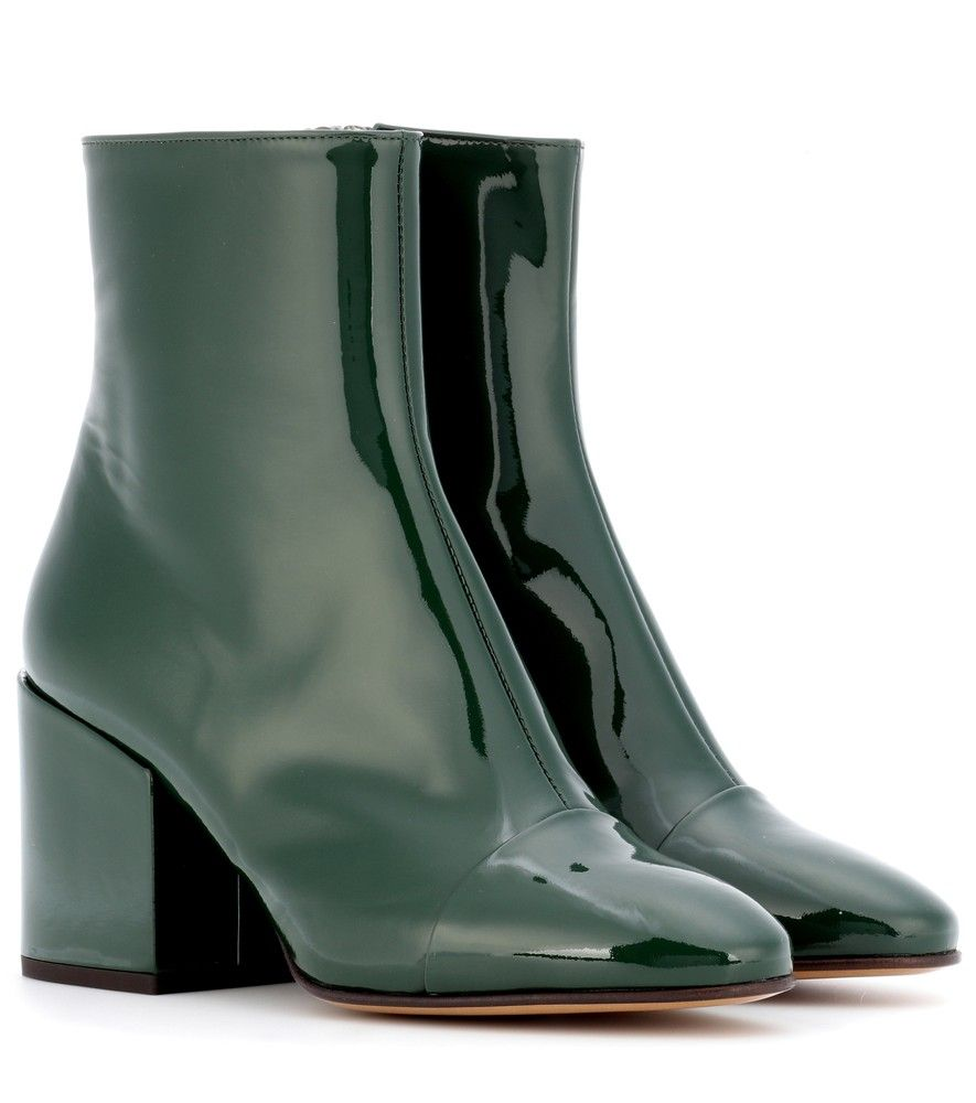DRIES VAN NOTEN Patent Leather Ankle Boots 9Lq7fKsqfr