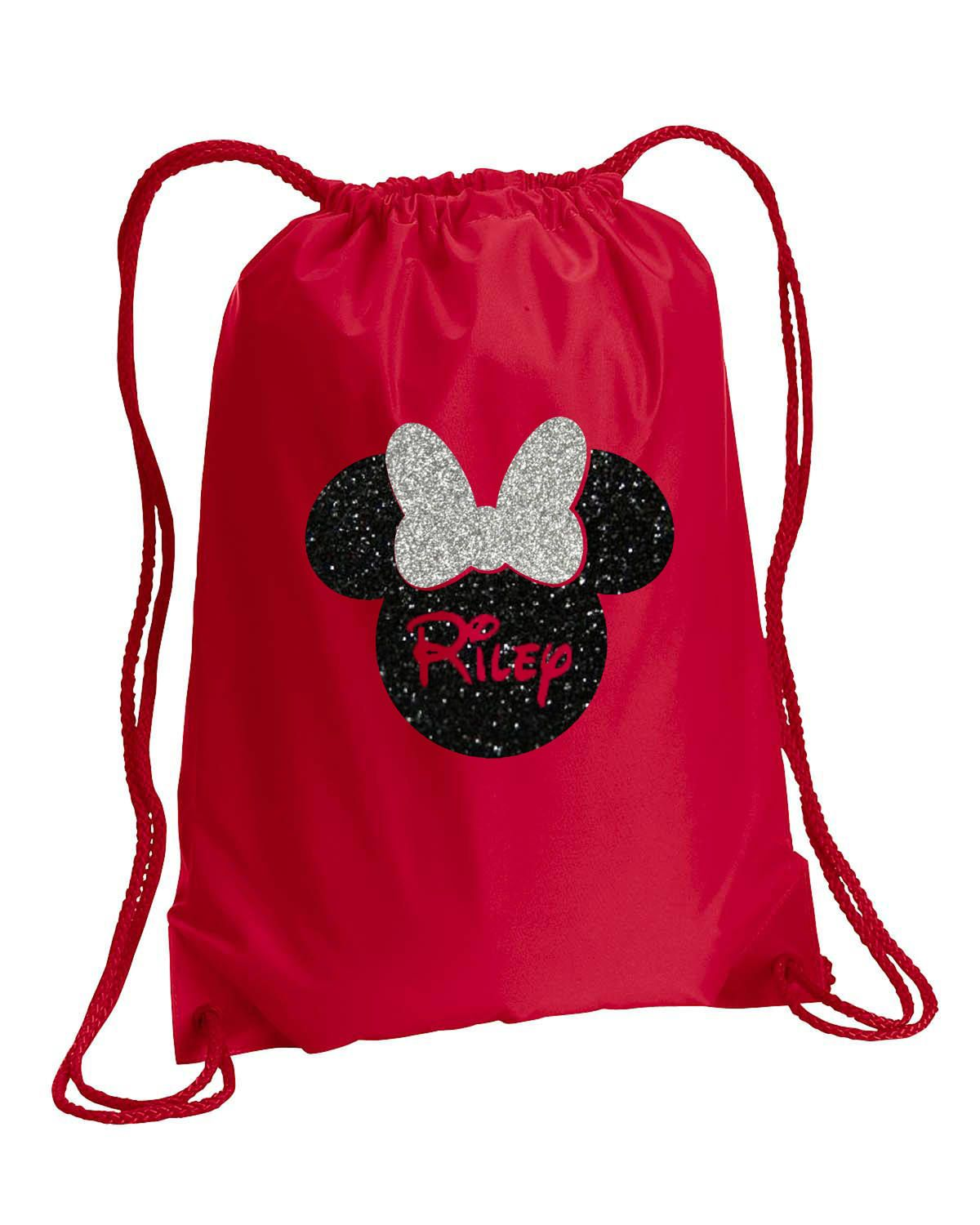 Minnie Mouse Bag Silver Glitter