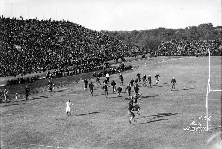 First game at texas memorial stadium in austin november