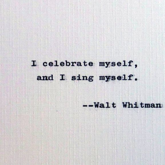 New to RogueryPress on Etsy: Walt Whitman quote; Song of Myself