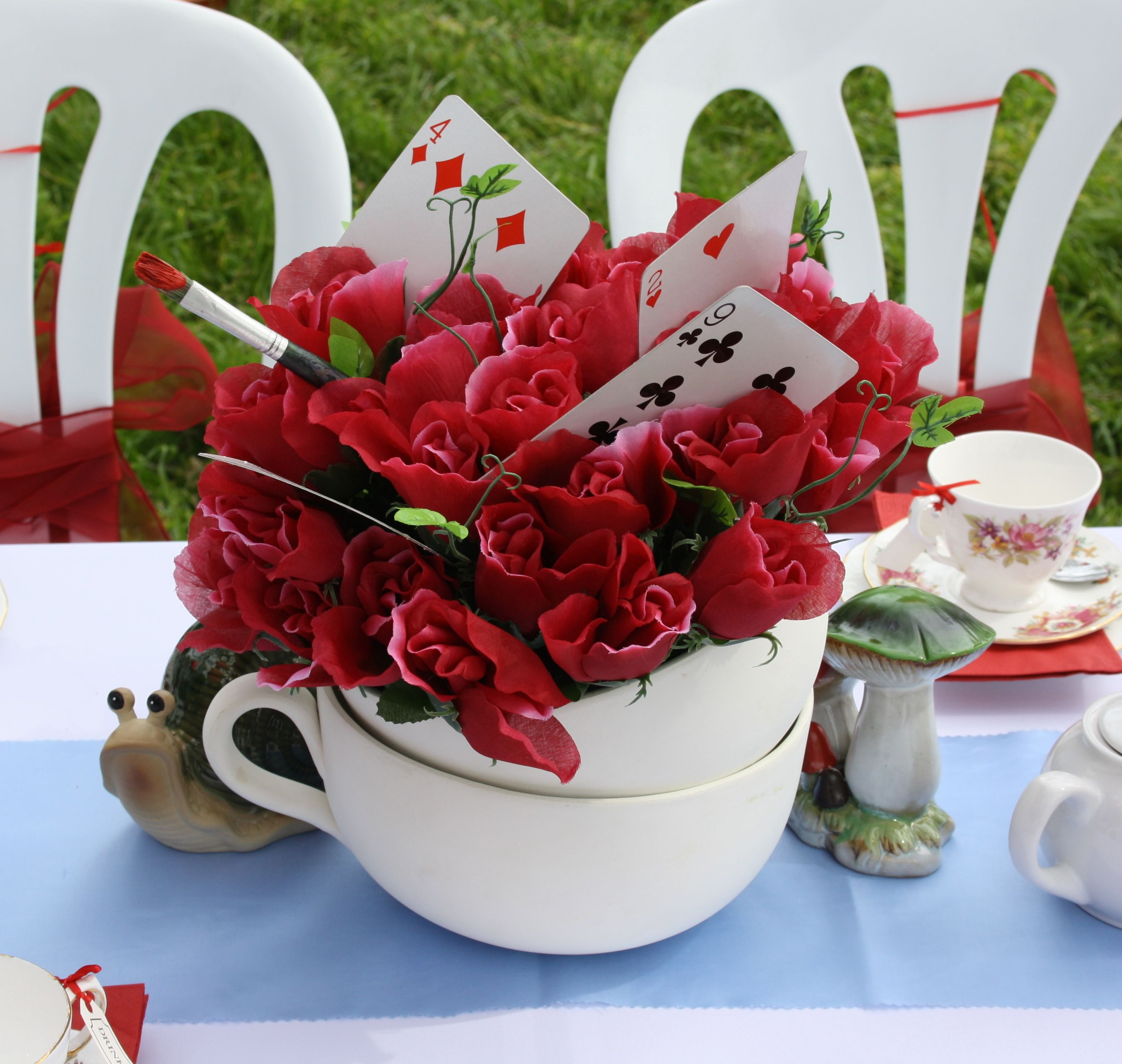Alice in Wonderland table setting | Toddler bday party ideas ...