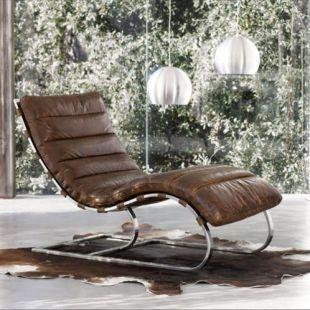 Leren Bank Chaise Longue.Bruine Leren Zetel In 2020 Ligstoel Overtrek Stoel En Lounge Ideeen