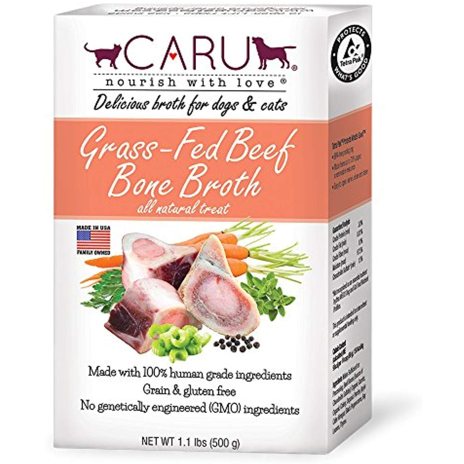 Caru GrassFed Beef Bone Broth for Dogs and Cats