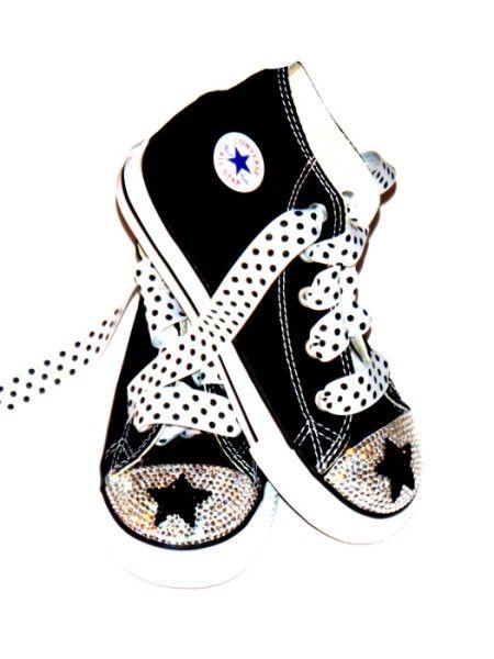c49e3bbc0696 Swarovski Baby BLing Famous Star Studded Rhinestone Converse Chuck Taylor