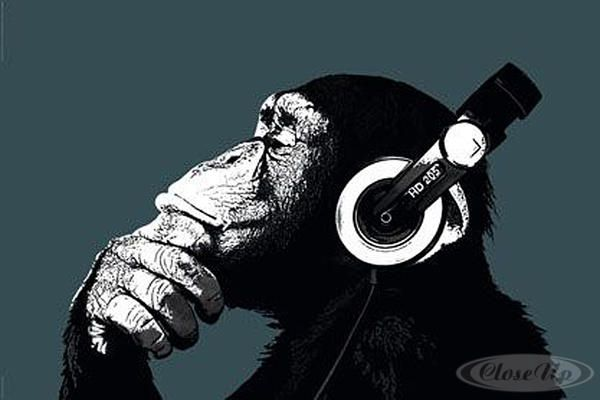 Monkey Headphones Poster Google Search Strassenkunst Banksy