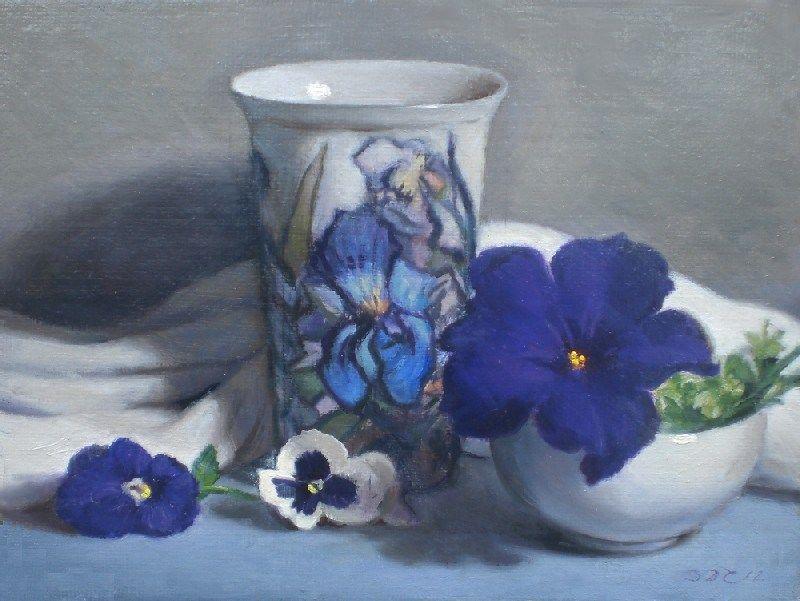 Debra Becks Cooper — Pansies, Iris, and Petunia (800x601)