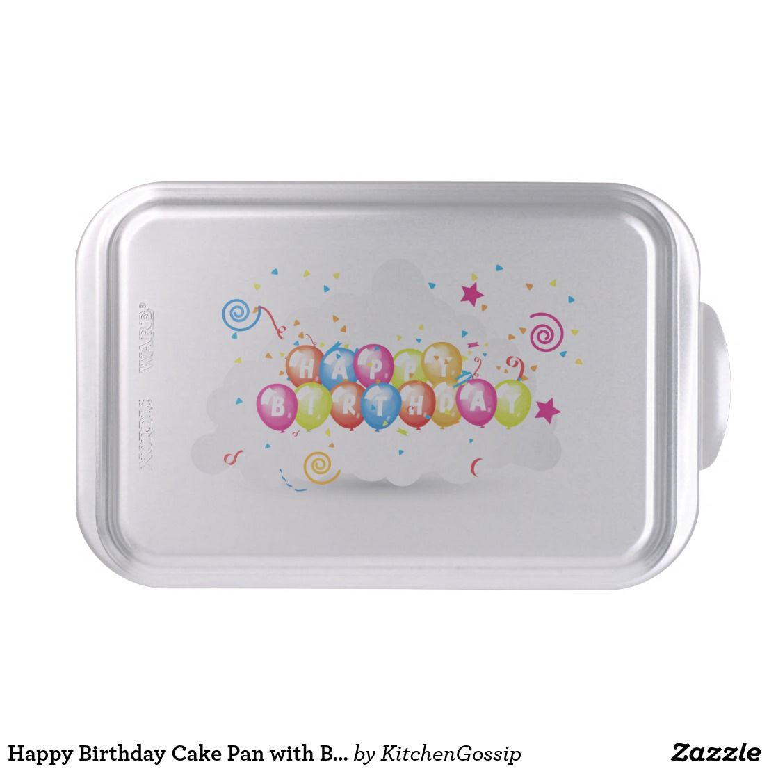 Happy Birthday Cake Pan With Balloons