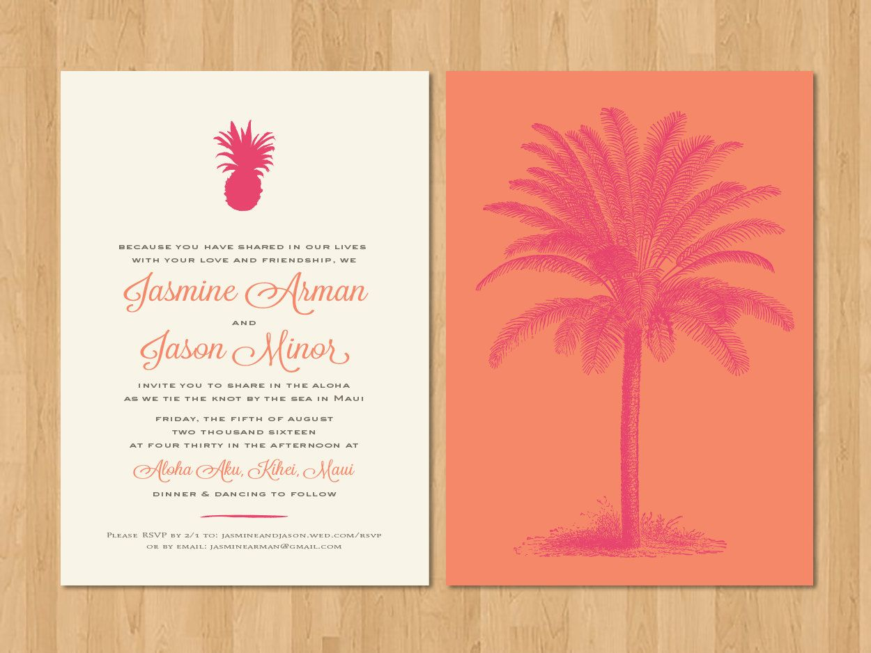 Tall Palm with Pineapple Motif - Hawaiian/Tropical/Beach/Destination ...
