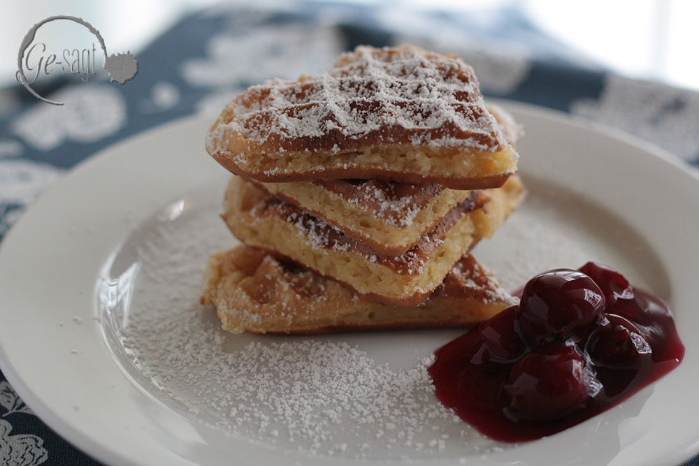 waffles with creme fraiche - recipe at my blog www.ge-sagt.de