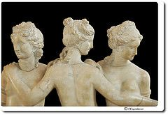 This is my own picture posted to Flickr.  The Three Graces, Louvre Museum, Roman copy , 2nd century CE.