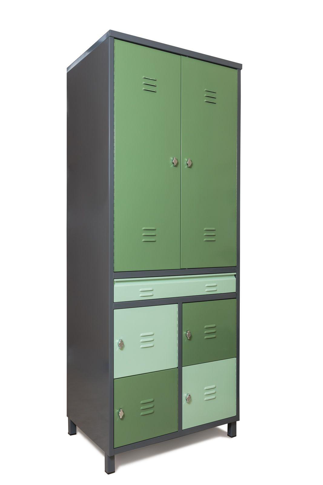 מרענן צ'אפלין - ארון 6 דלתות וחמש מגירות עם ווי תלייה ארון כלי עבודה OR-64