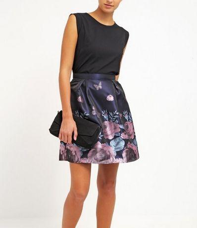 Glamorous Spodnica Plisowana Mini W Kwiaty Navy Skirts Fashion Floral Skirt