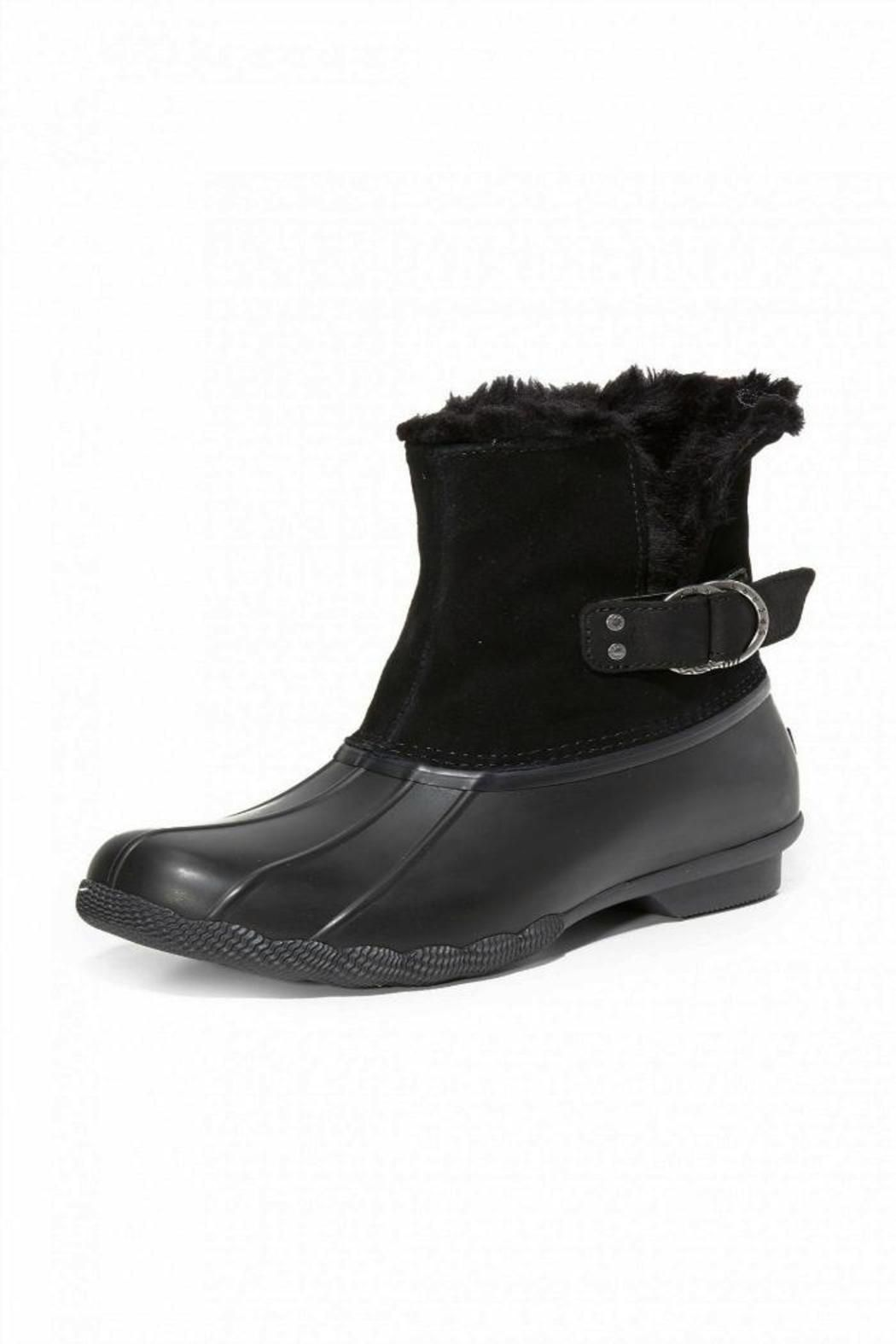 ec578319c7eb Take on chilly weather wearing the Sperry Saltwater Ivy Duck Boot. With a  fur interior