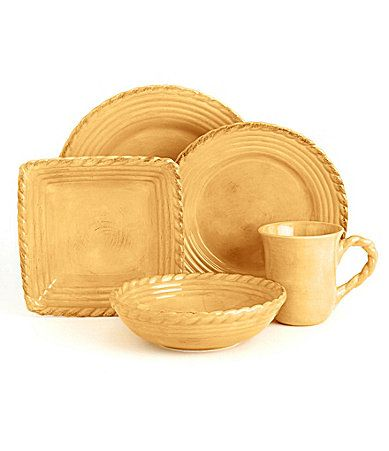 Artimino Tuscan Countryside Yellow Dinnerware #Dillards | I AM a ...