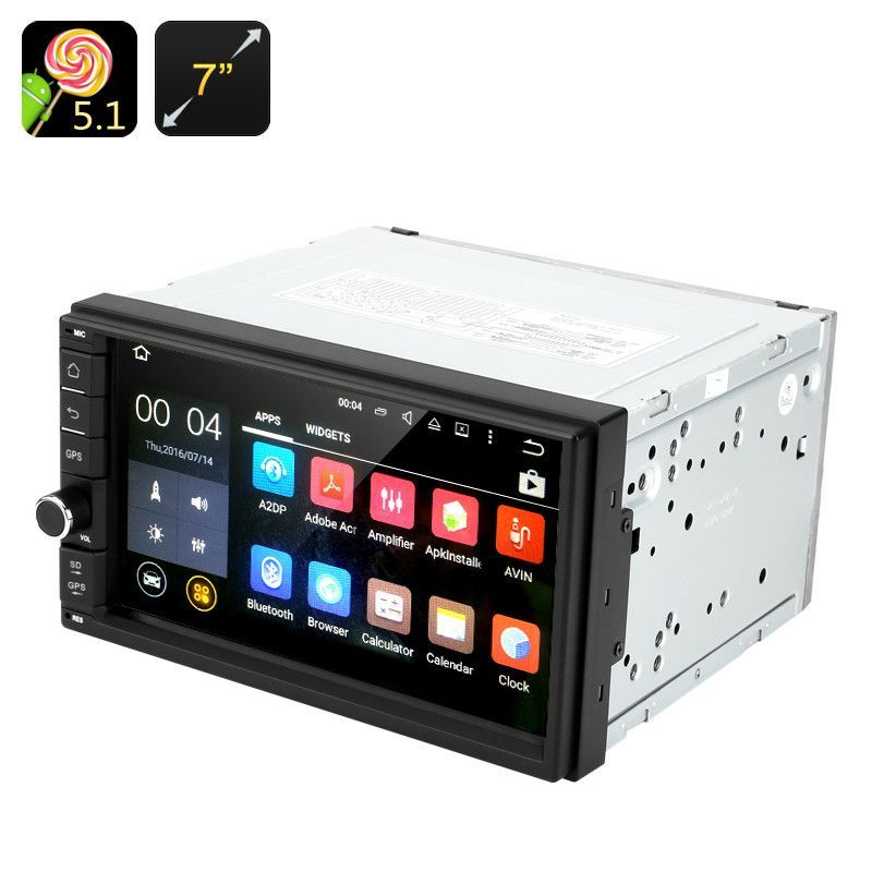 Key Features 2 Din Car Stereo With A Super Sharp 7