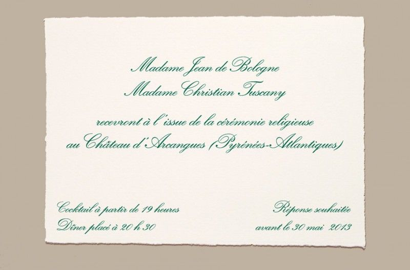 Modele carte invitation repas mariage
