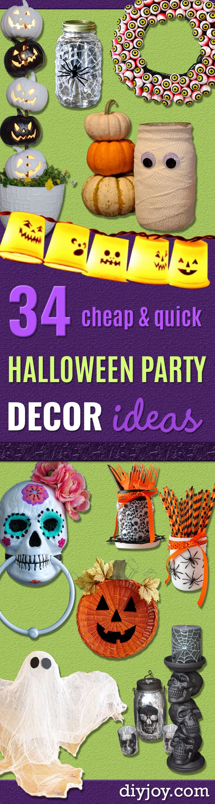 34 Inexpensive DIY Halloween Party Decor Ideas
