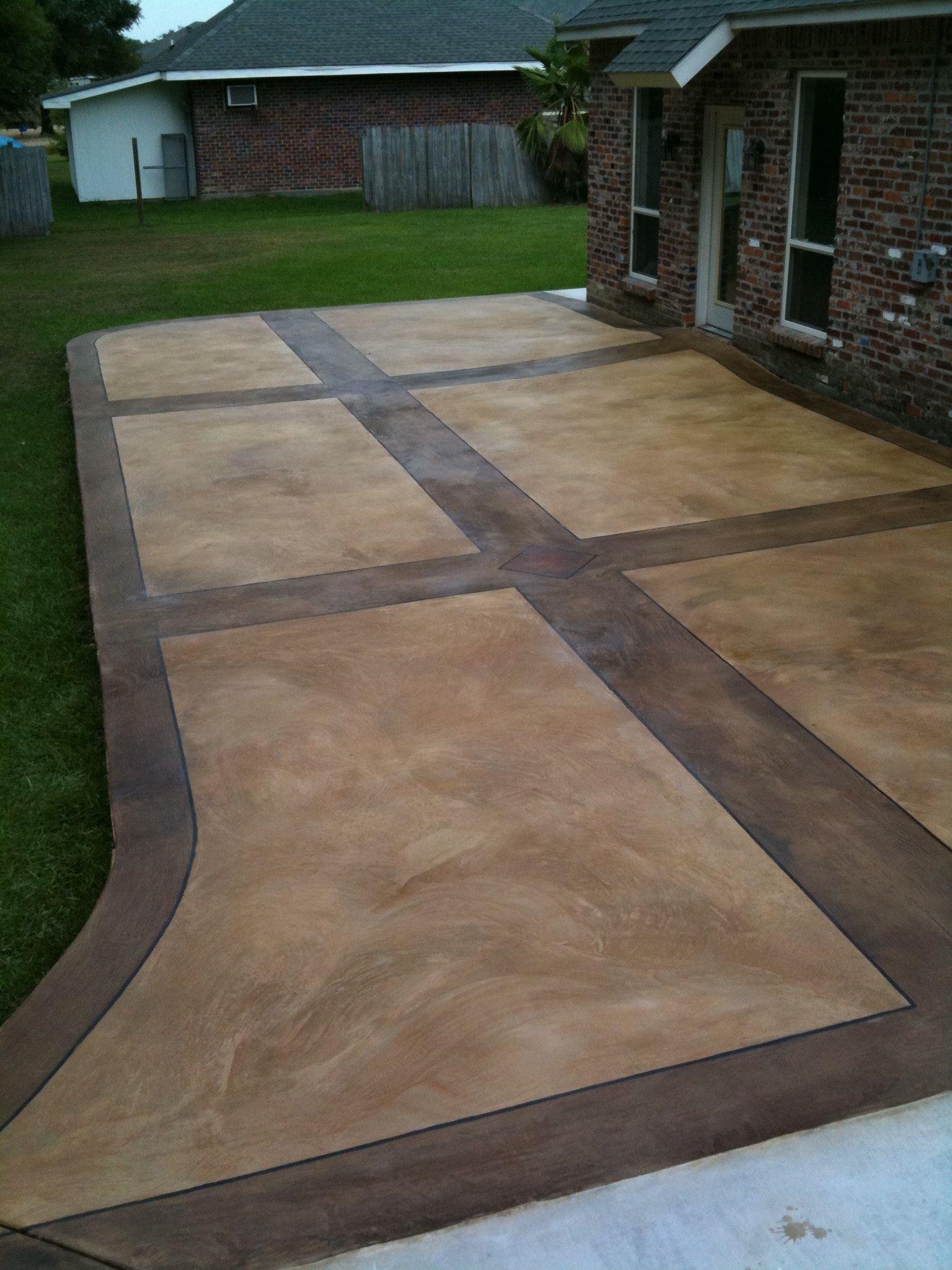Decorative Concrete Overlay, Outdoor Patio Concrete Overlay