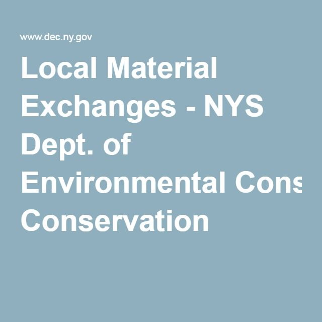 Local Material Exchanges - NYS Dept. of Environmental Conservation