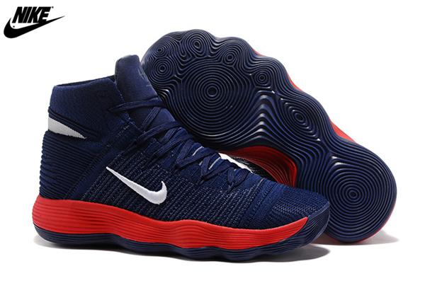 d44ae5110763 MenS Nike React Hyperdunk 2017 Flyknit Basketball Shoes Navy Blue White