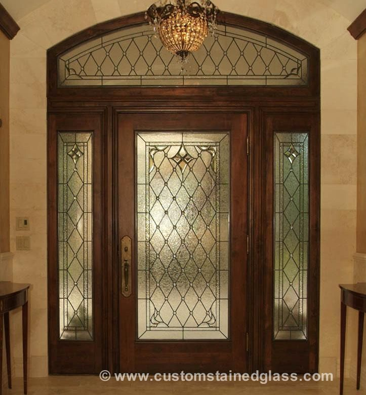 Stained Glass Doors Leaded Glass Beveled Doors Custom