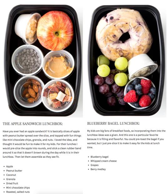 Healthy Snack For Kids - Apple Bagel Sandwich #schoollunchideasforkids