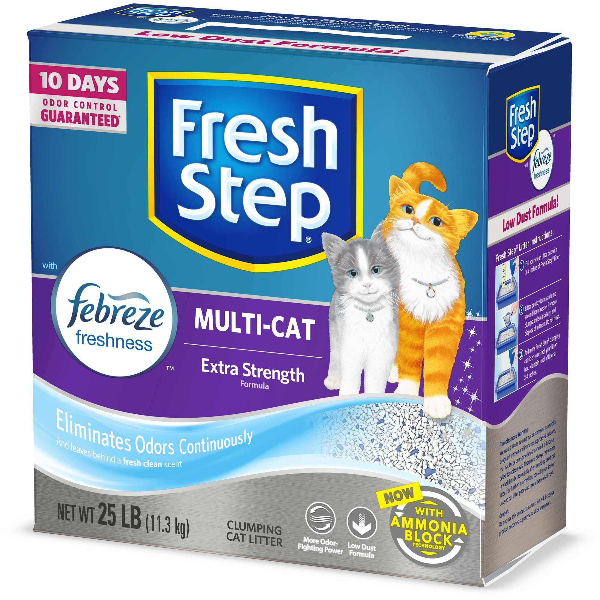 Fresh Step Scented Power of Febreze Clumping MultiCat