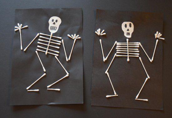 skelett diy basteln halloween deko und diy. Black Bedroom Furniture Sets. Home Design Ideas