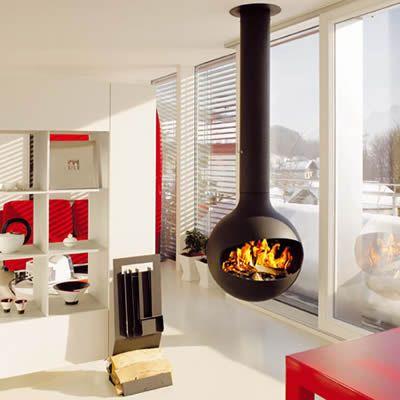 This Unobtrusive And Elegant Suspended 360 Pivotable Fire Is