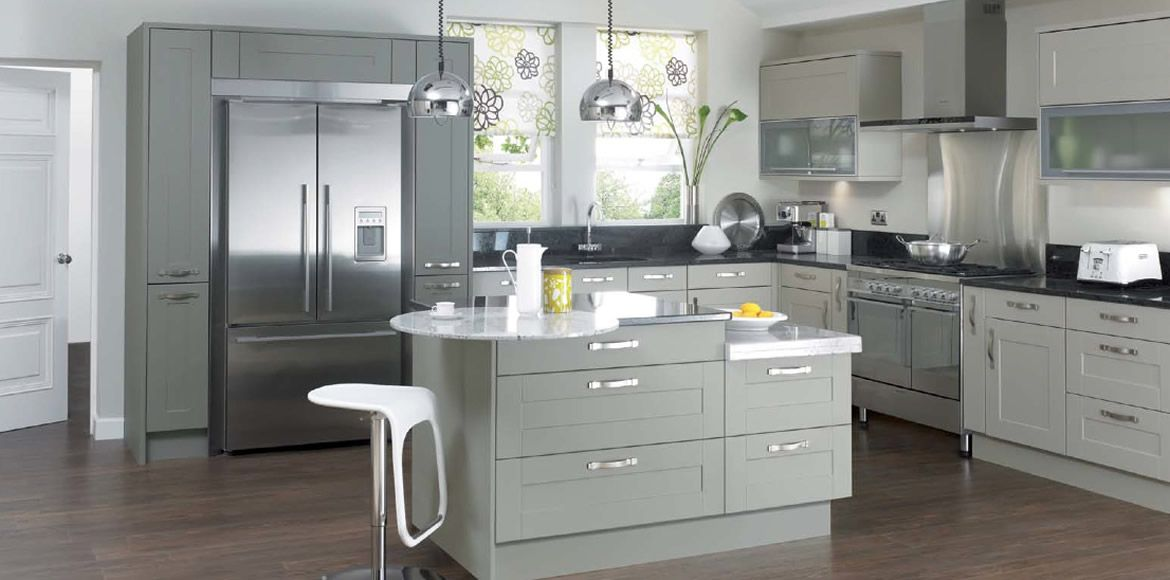 Shaker contemporary kitchen stylish and for Shaker style kitchen hoods