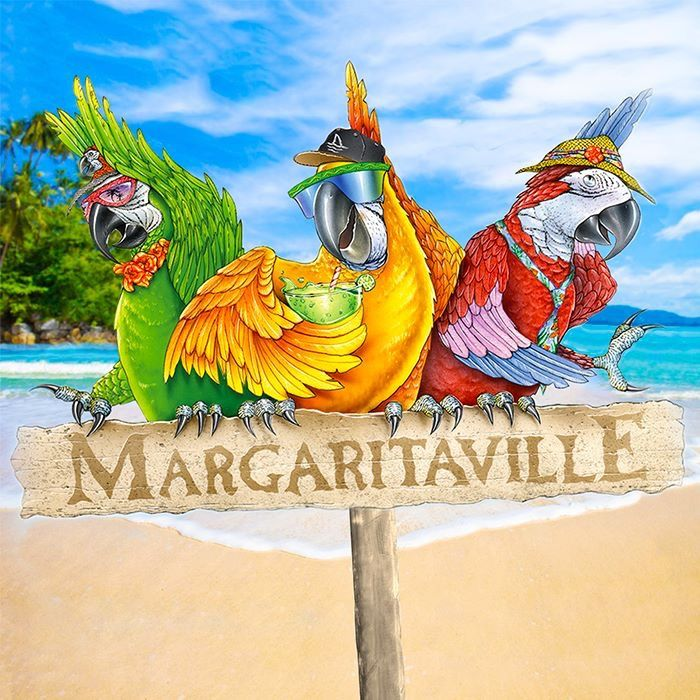 Stencil Margaritaville with Parrot Free Shipping to the U.S.