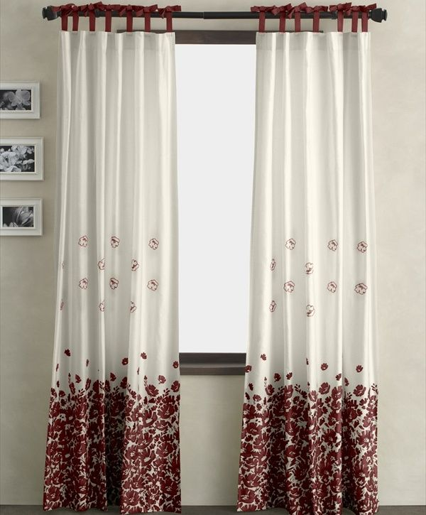 Home Design Ideas For Small Homes Red And White Curtains