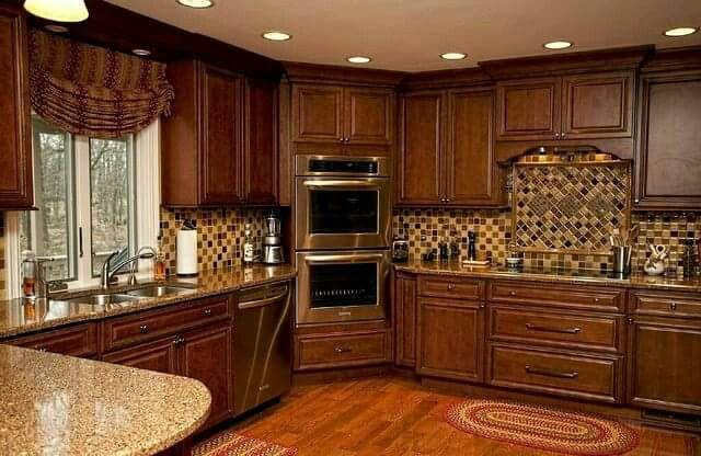 Love This Kitchen Layout Want The Ovens In Corner