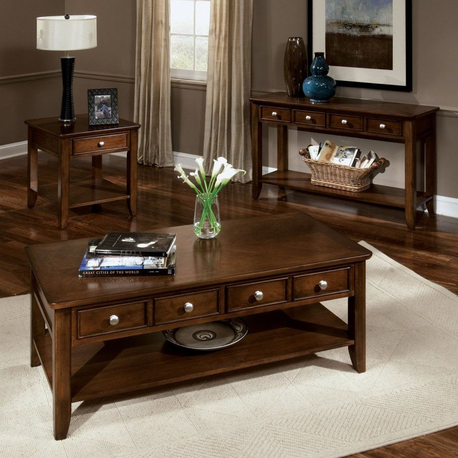 Modern living room furniture interior decorating ideas with mahogany wooden