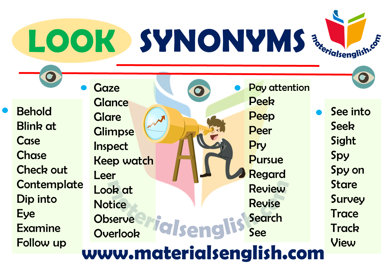 Synonym Words With Look English Writing English Exam Synonym