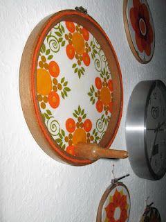 Bild aus Stickrahmen mit nützlichem Haken