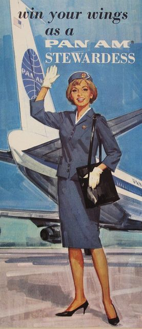 Win Your Wings As A Pan Am Stewardess 20thcmod Vintage Airline Posters Vintage Airlines Pan Am Stewardess