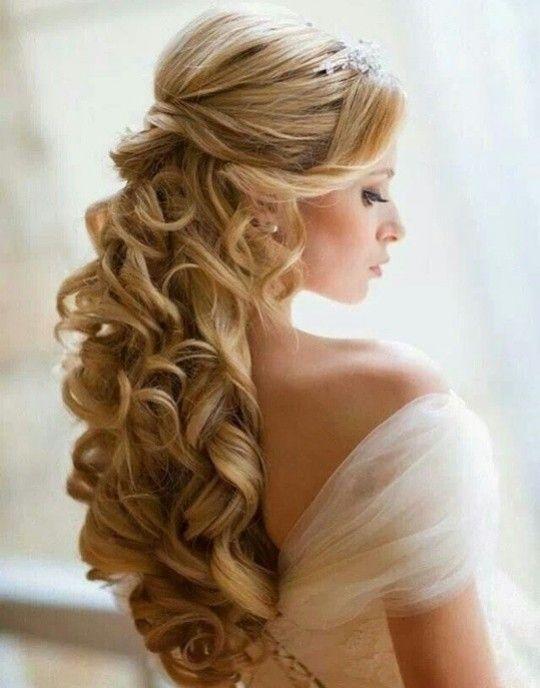 Peinados para novia cabello largo