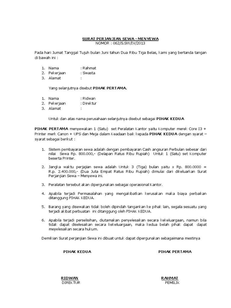 Hasil Gambar Untuk Contoh Kwitansi Sewa Menyewa Komputer Dan Printer Surat Lucu Tanda