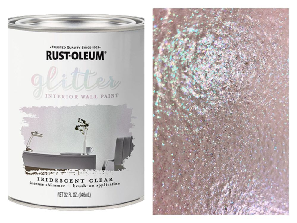 Glitter Paint Rust Oleum Interior Glitter Paint Creates A