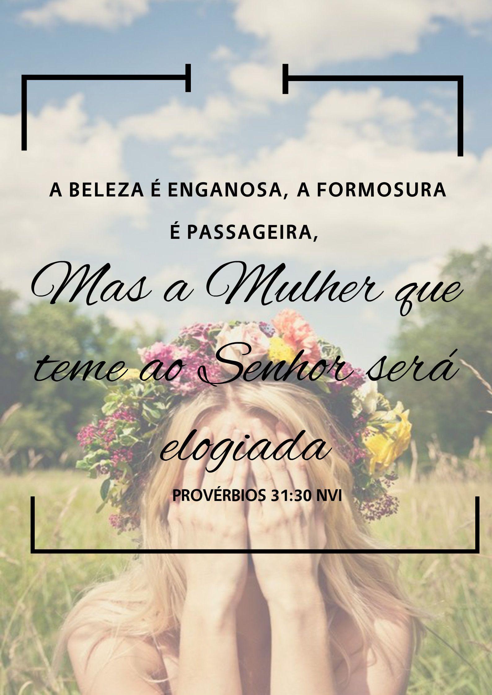 Proverbios 31 30 Garota Crista Poster Palavra De Deus Bible