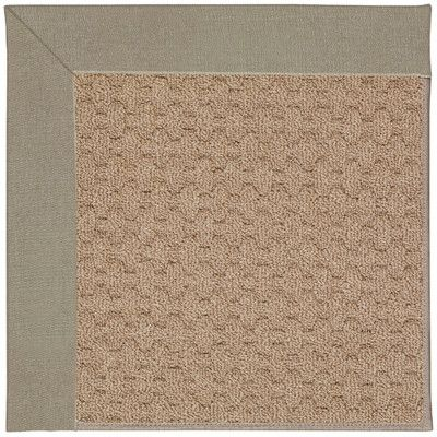 Capel Zoe Grassy Mountain Machine Tufted Buff/Brown Indoor/Outdoor Area Rug Rug Size: