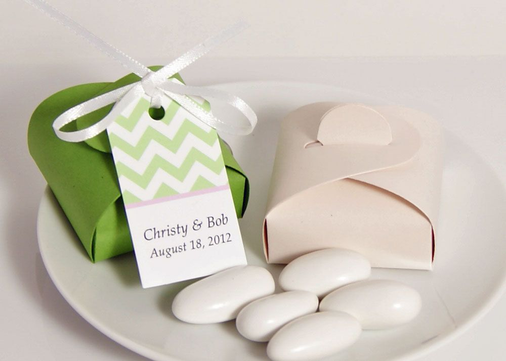 Jordan Almond Wedding Favor Tags
