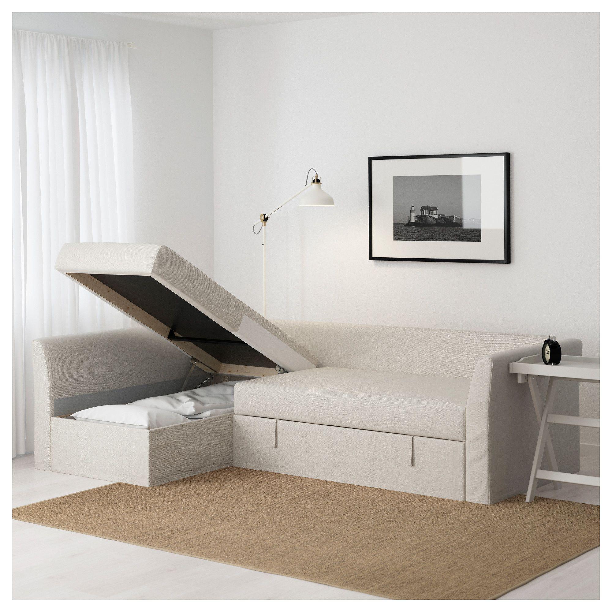 IKEA - HOLMSUND Corner sofa-bed Nordvalla beige | Kitttuu ...