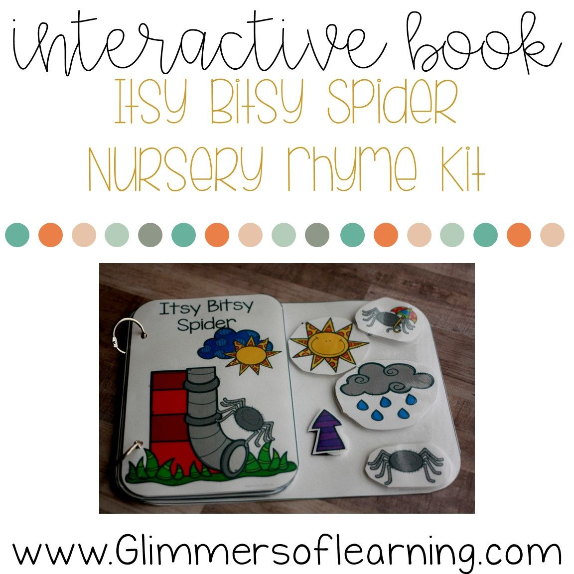 Itsy Bitsy Spider Interactive Book And Questions