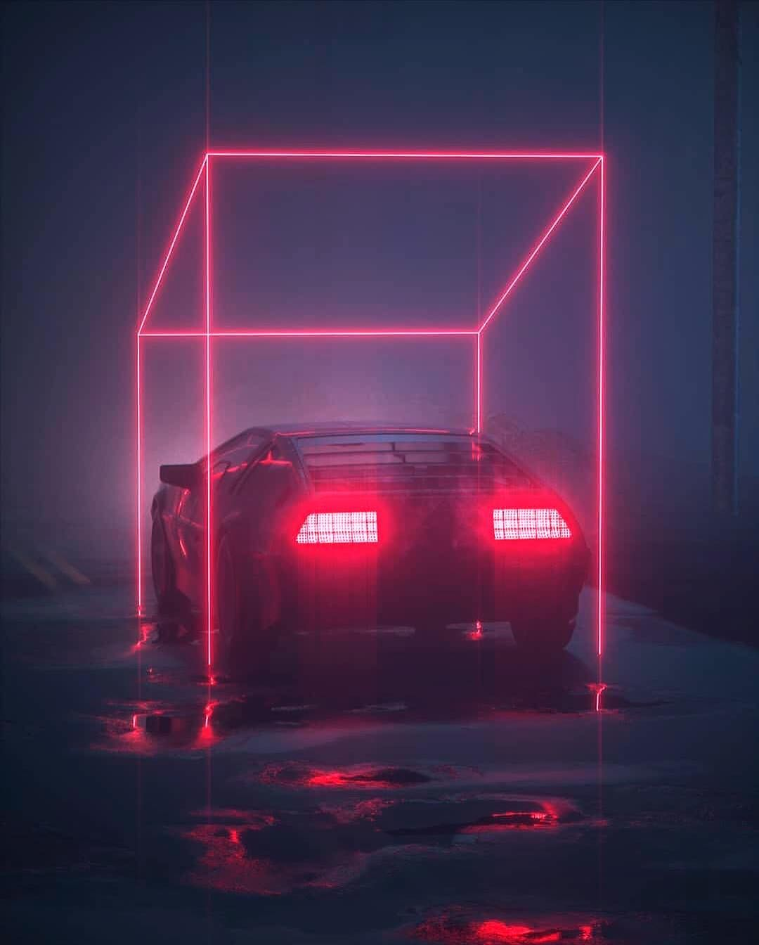 Neon Delorean Synthwave 80s Car In 2020 Synthwave Delorean Neon Aesthetic