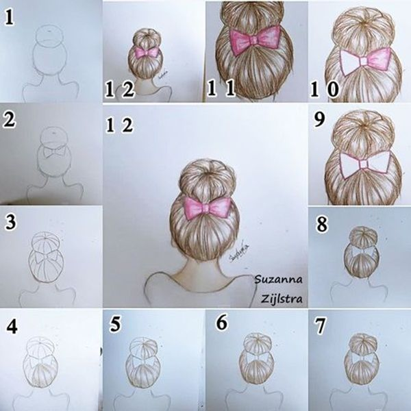 To Draw Hair (Step By Step Image Guides) Let's learn how to draw hair step by step image guides . You not only need to concentrate on the details but also work at adding depth to the drawing.Let's learn how to draw hair step by step image guides . You not only need to concentrate on the details but also work at adding depth to the drawing.