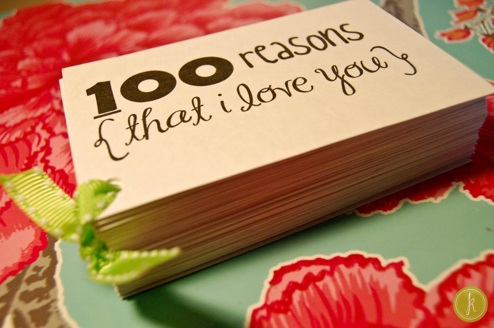 100 Reasons Why I Love You DIY and Crafts Pinterest