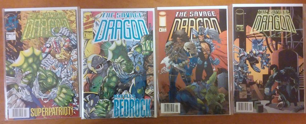 Image ComicsThe Savage Dragon lot of 4: #2, #3 (1992) #8, #9 (1993-Present)