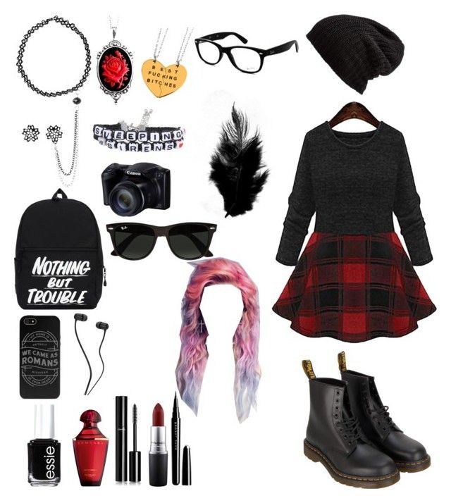 """""""Untitled #24"""" by frankoero ❤ liked on Polyvore featuring interior, interiors, interior design, home, home decor, interior decorating, Dr. Martens, Couture by Lolita, Boohoo and Ray-Ban"""